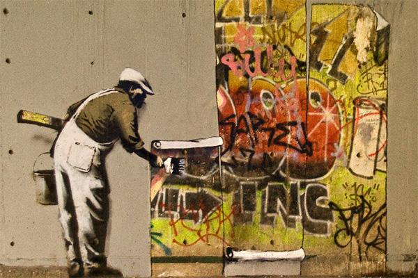BANKSY ศิลปิน Graffiti